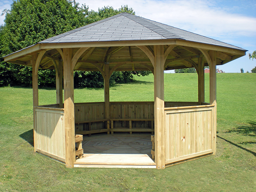 Wooden Hot Tub Enclosure Image