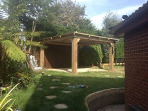 wooden hot tub enclosure image