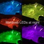 hot tubs with different colour led lights image
