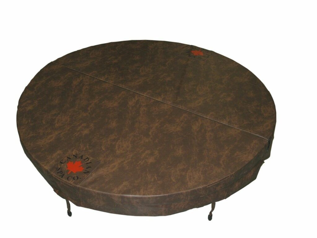 Round Canadian spa hot tub cover image